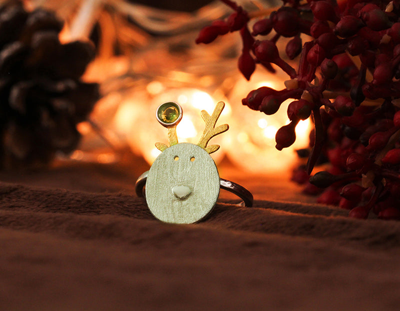 Christmas Reindeer Ring