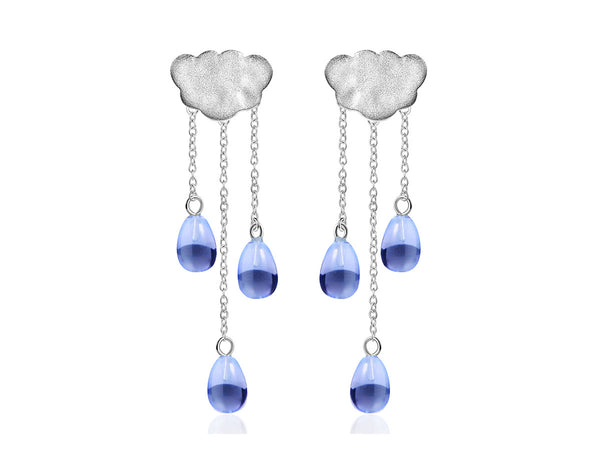 Cloud Tassel Earring - Lotus Fun