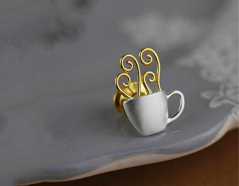 Morning Coffee Brooch - Lotus Fun