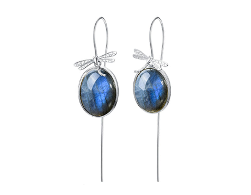 Dragonfly Labradorite Earring