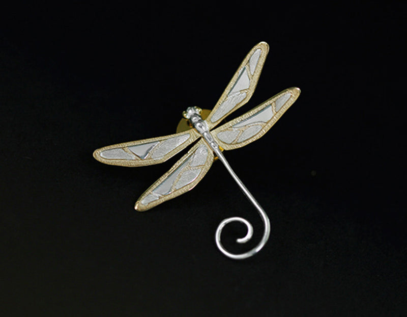 Cute Dragonfly Brooch - Lotus Fun