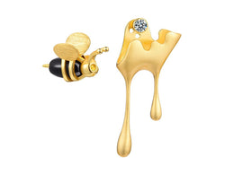 Dripping Honey & Bee Earring II