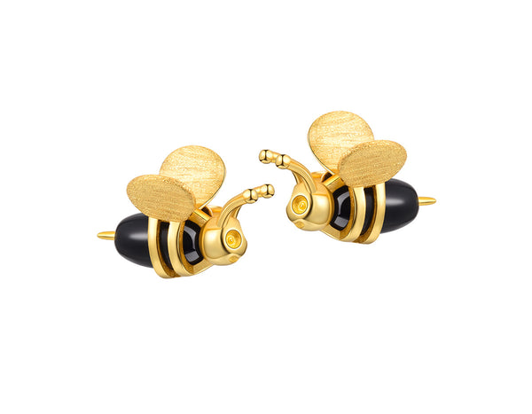 Dripping Honey & Bee Earring