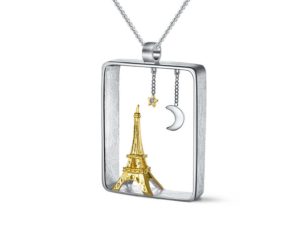 Night at the Eiffel Tower Pendant