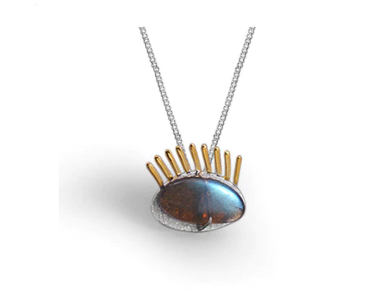Golden Eyelashes Pendant