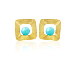 Freeform Square Stud Earring