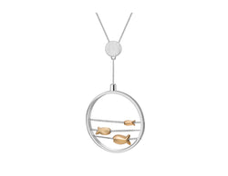 Swimming Fishes Pendant