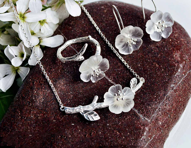 Flower in the Rain Jewelry Set - Lotus Fun