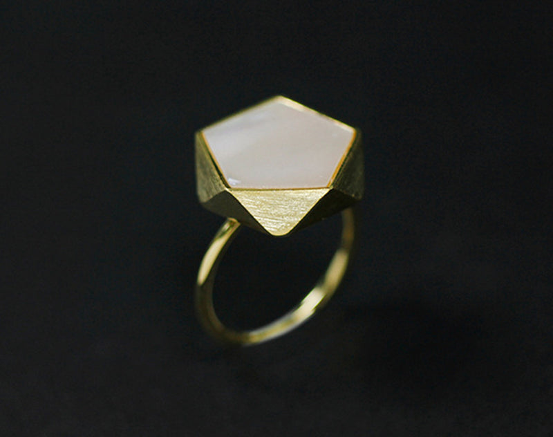 Geometric Angles Ring - Lotus Fun