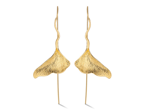Gingko Leaf Earring - Lotus Fun