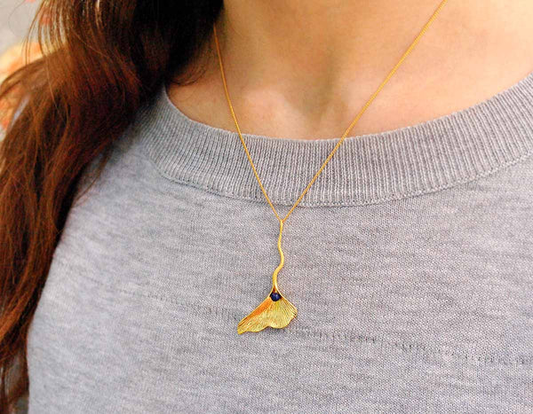 Gingko Leaf Pendant - Lotus Fun