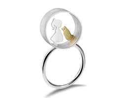 Boy and Girl Meets Cat Ring - Lotus Fun