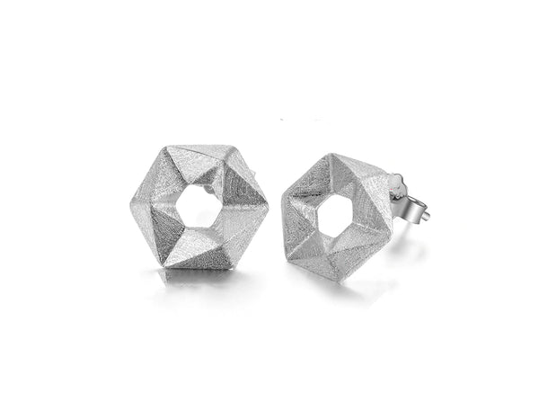 Hexagon Stud Earring
