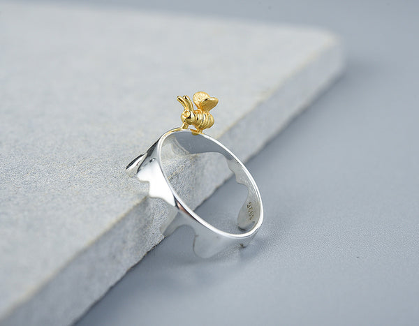 Dripping Honey & Bee Ring