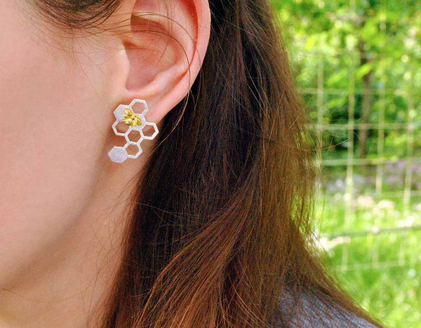Honeycomb Earring - Lotus Fun