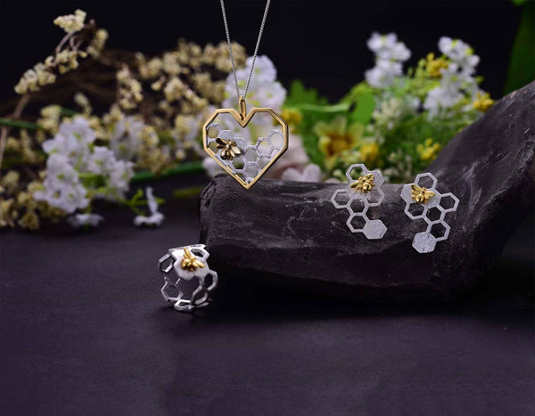 Honeycomb Jewelry Set - Lotus Fun