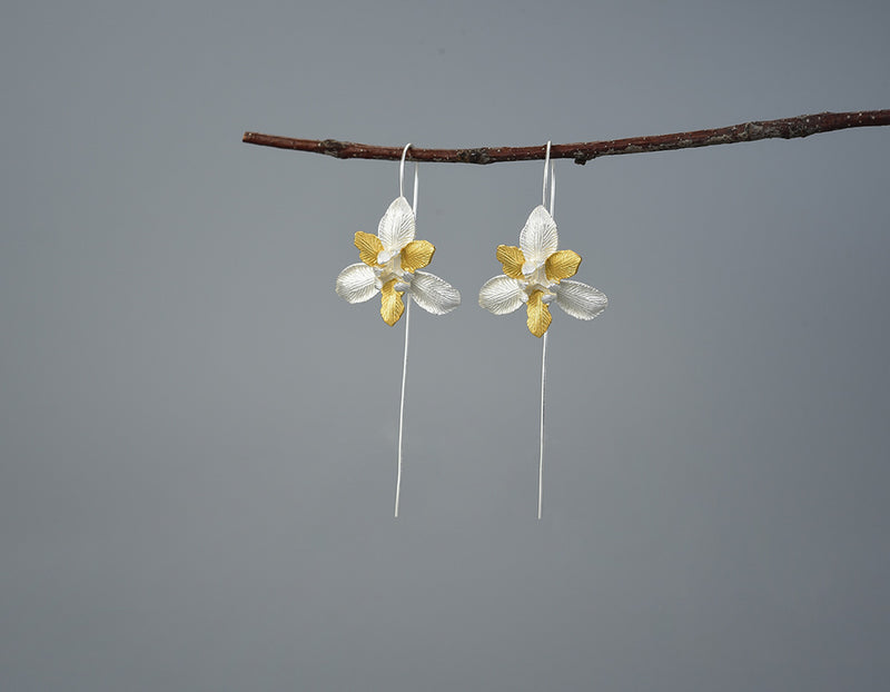 Iris Flower Earring