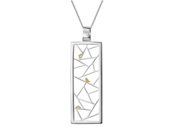 Birds Kirigami Pendant - Lotus Fun