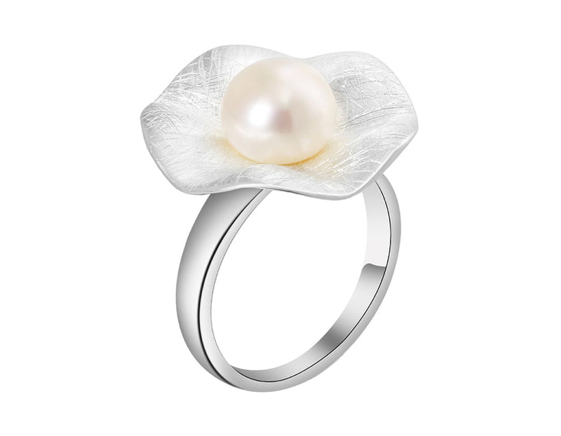 Pearl Lotus Leaf Ring - Lotus Fun