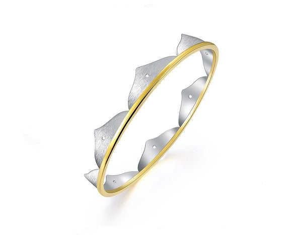 Lotus Flower Minimalist Bangle