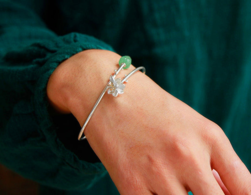 Lotus Whispers Bangle - Lotus Fun