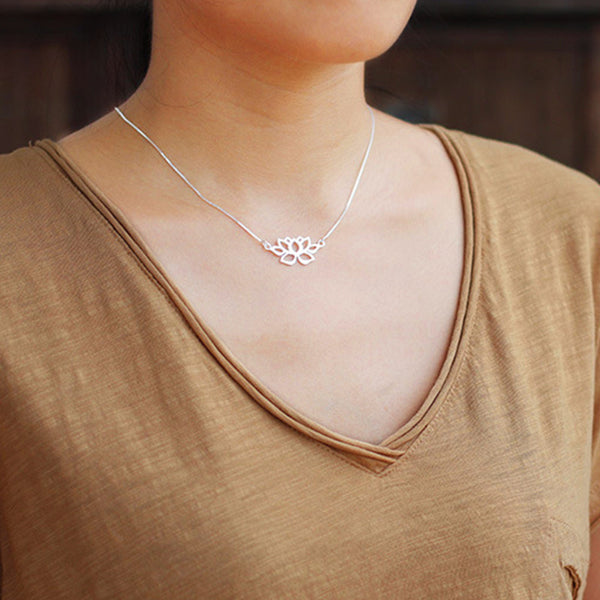 Lotus Symbol Necklace - Lotus Fun