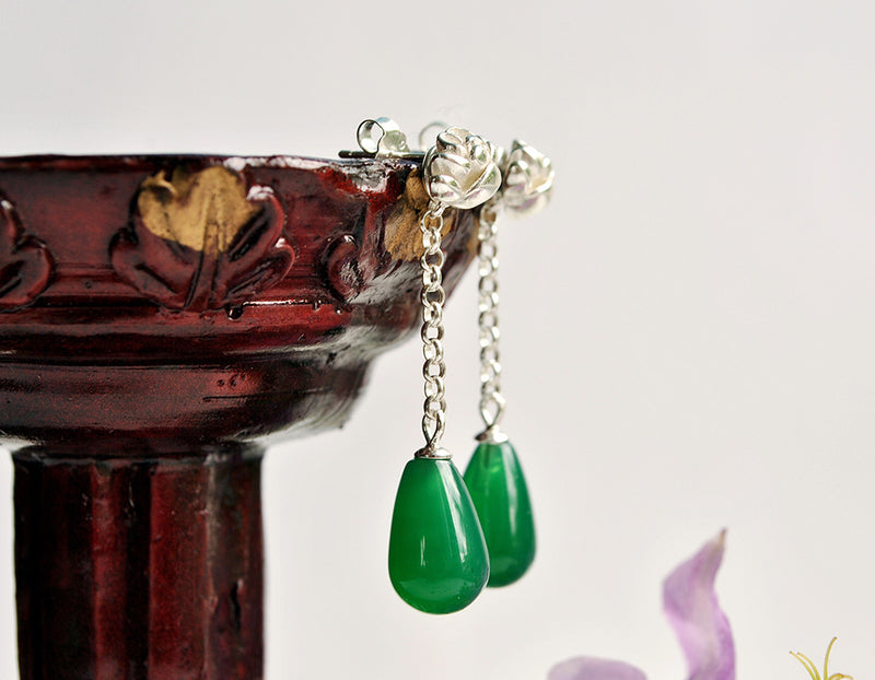 Agate Lotus Earring - Lotus Fun