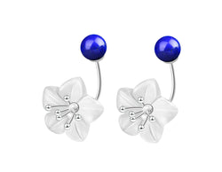 Crystal Lotus Lapis Earring - Lotus Fun