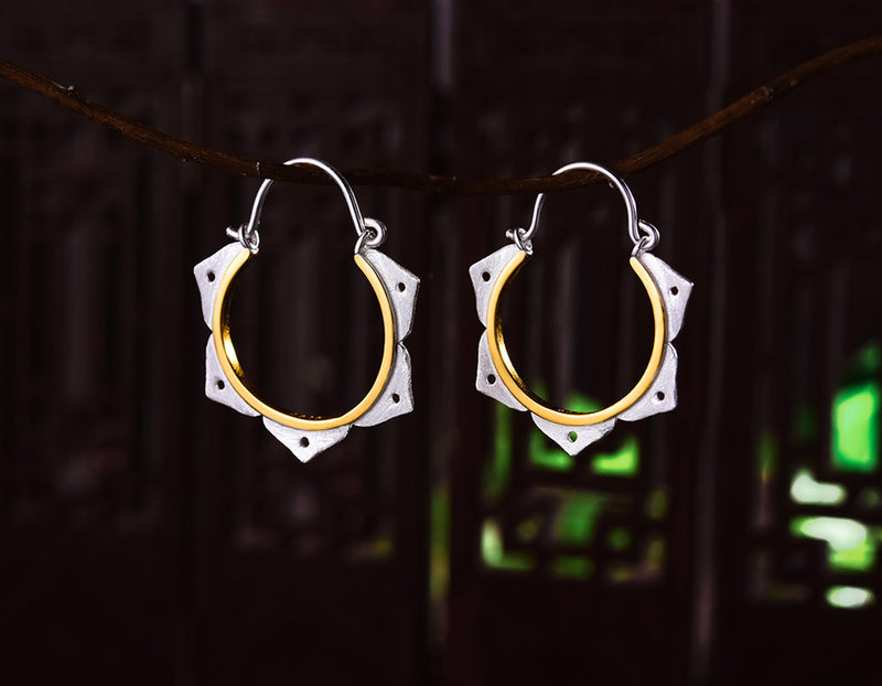 Lotus Flower Minimalist Earring