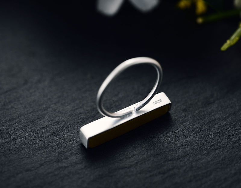 Serpentine Bar Ring - Lotus Fun