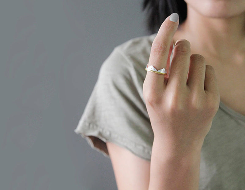 Lotus Flower Minimalist Ring
