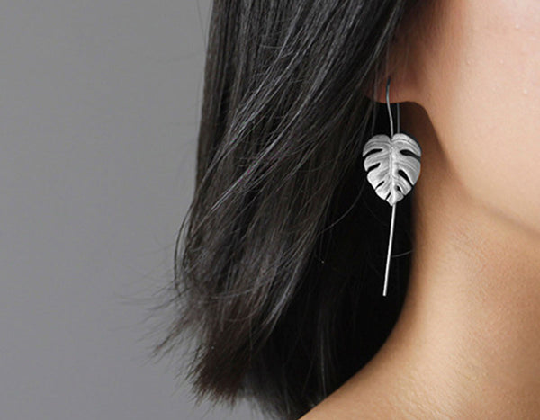 Monstera Leaves Earring - Lotus Fun