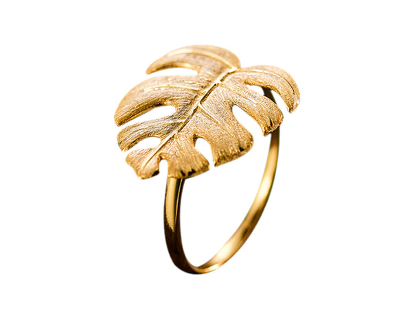 Monstera Leaf Ring - Lotus Fun