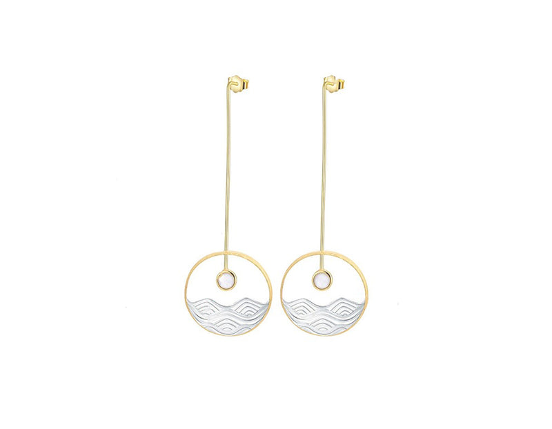 Moonlight Over The Ocean Earring
