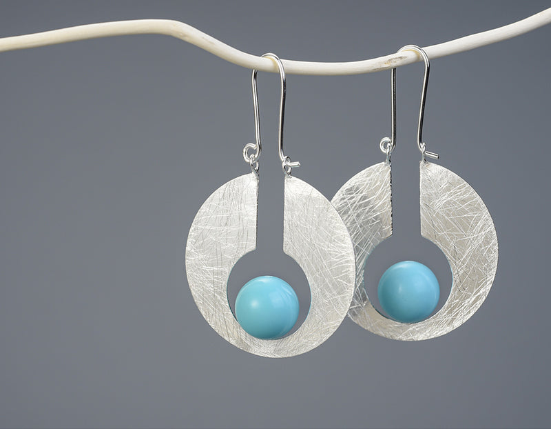 Full Moon Dangle Earring