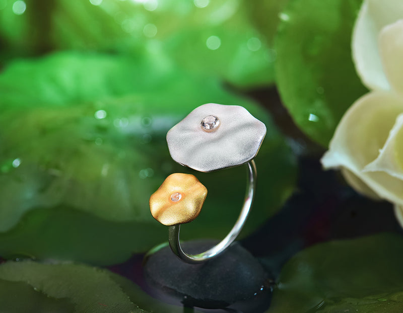 Lotus Leaf's Morning Dew Ring