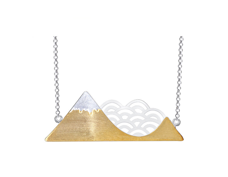 Mountain and Cloud Symbol Necklace