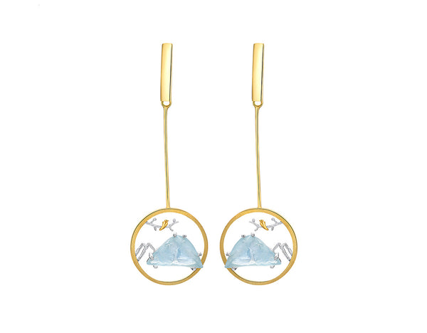 Blue Mountain Earring