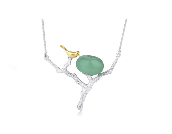 Bird on Branch Nest Necklace II
