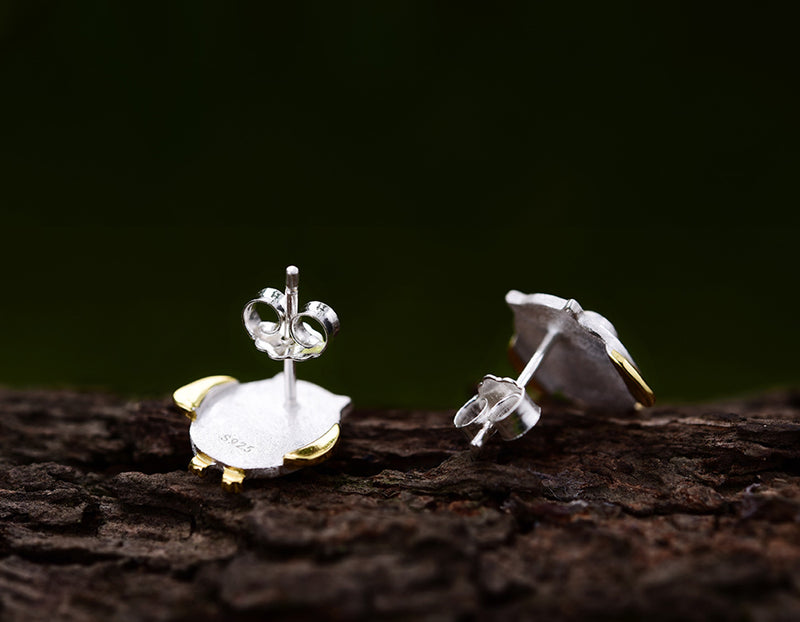 Sterling Silver | Owl Earring Stud - Lotus Fun