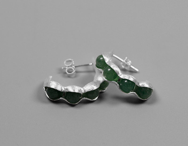 Sterling Silver | Peapod Earring - Lotus Fun