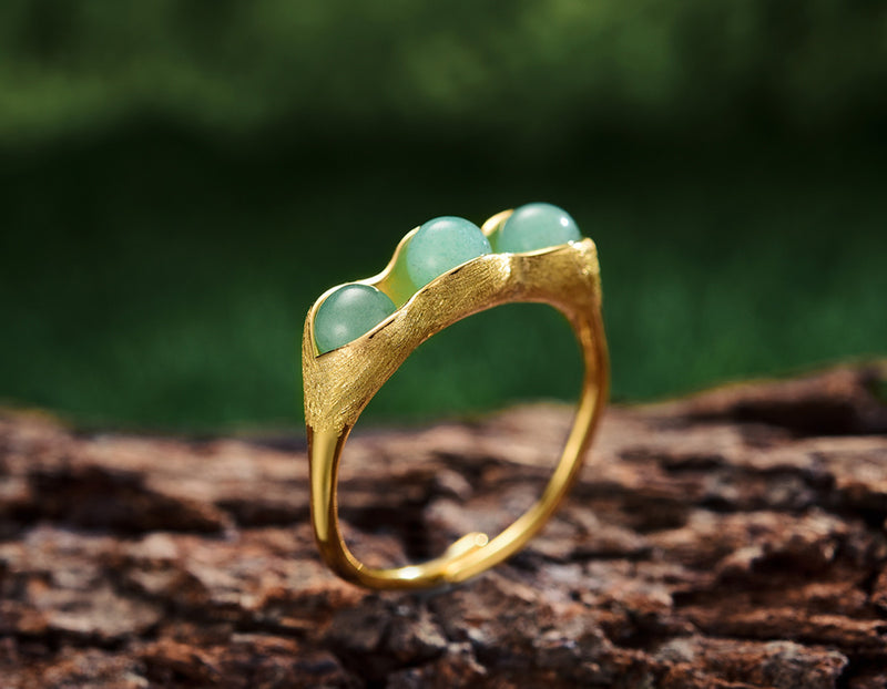 Sterling Silver | Pea Pod Ring - Lotus Fun