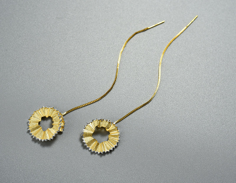 Pencil Shavings Dangle Earring