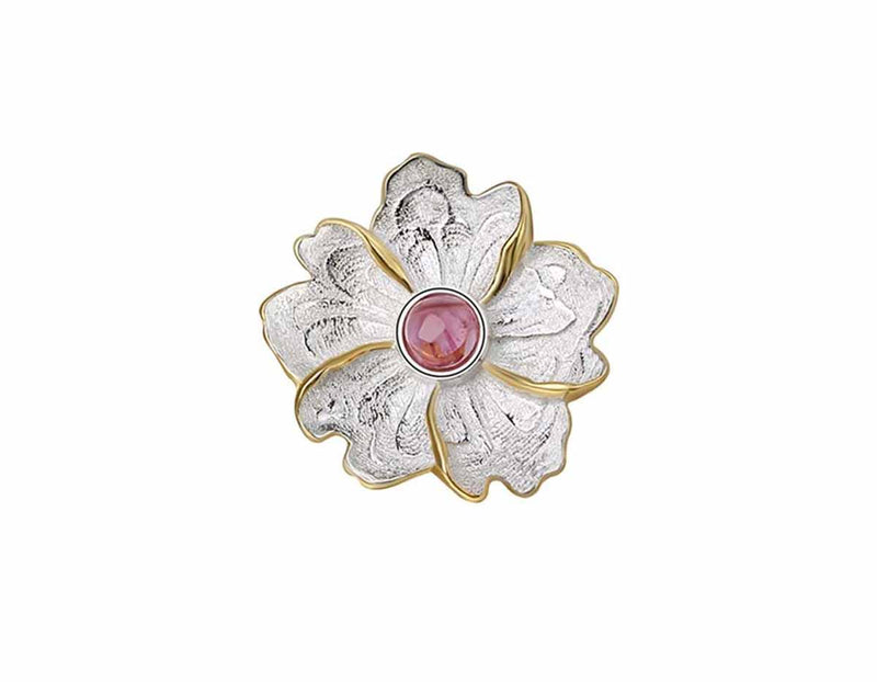 Peony Flower Brooch - Lotus Fun