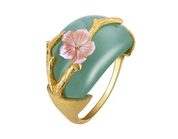 Plum Blossom Aventurine Ring - Lotus Fun