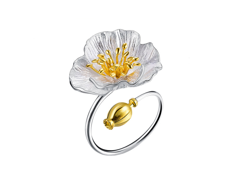 Blooming Poppies Ring