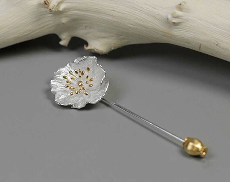 Blooming Poppies Brooch - Lotus Fun