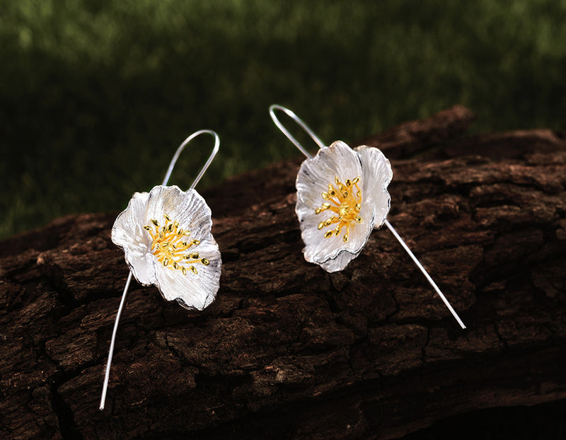 Blooming Poppies Earring - Lotus Fun
