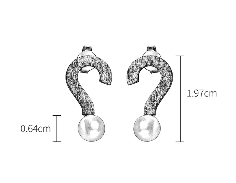 Question Mark Earring