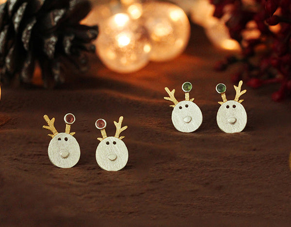 Christmas Reindeer Earring - Lotus Fun